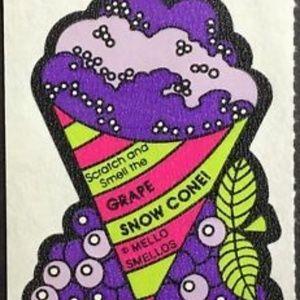 Vintage Mello Smello Grape Snow Cone Sticker Scent